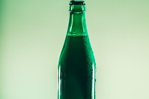 Green beer bottle. St. Patrick's Day