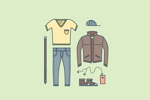Male clothing things fashion