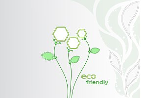 Abstract flowers. Ecotechnology.