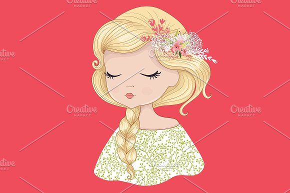 Cute Girl-Girl vector illustration