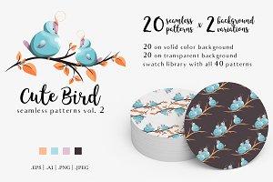 Cute Bird Patterns Vol. 2