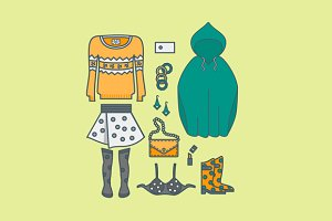 Female clothing things fashion
