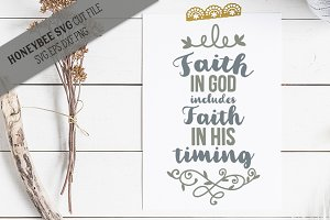 Faith in God Faith in Timing SVG
