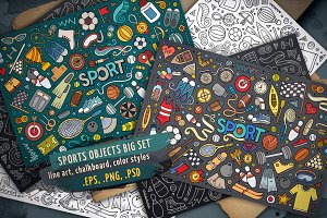Sports Objects & Elements Big Set