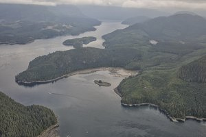 Aerial view on Vancouver island