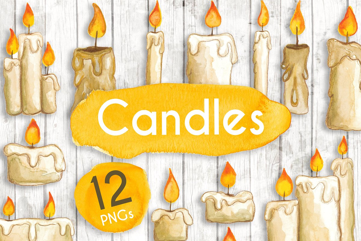 Watercolour Candles
