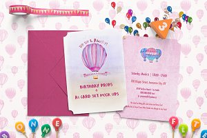 Birthday Props & A7 Card Set Mock Up