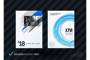 Set of artistic abstract design of business vector brochure