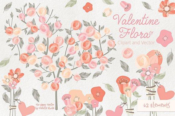 Valentine Flora 01 Clipart Vectors