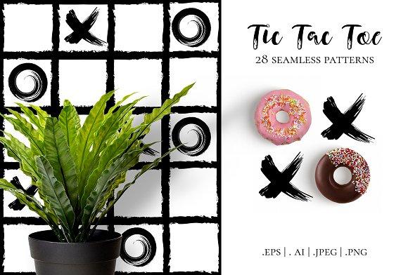 Tic Tac Toe, 28 patterns