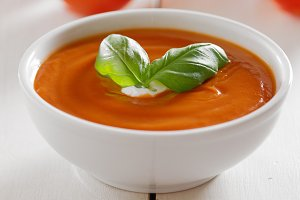 tomato soup with copy space
