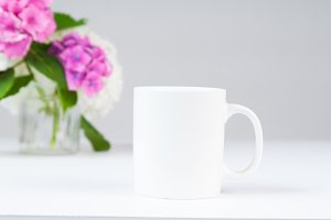 White mug on a desk
