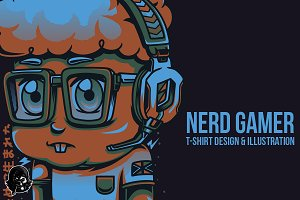 Nerd Gamer Illustration