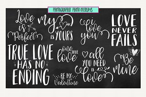 Love & Valentines Quote Overlays