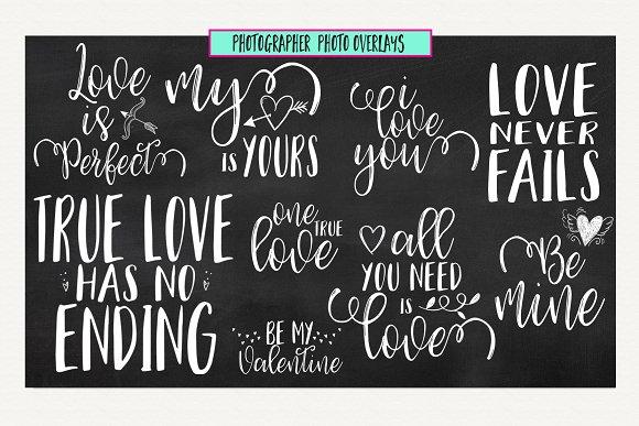 Love Valentines Quote Overlays