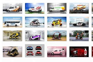 Vector Bundle 24 realistic cars mock