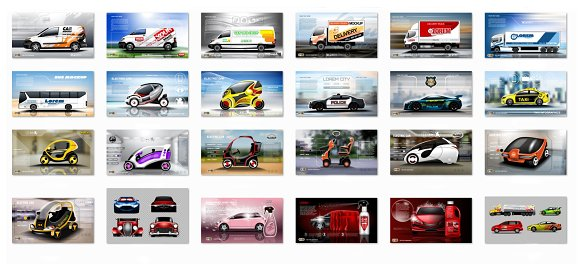 Vector Bundle 24 realistic cars mock