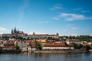 Scenic view of Mala Strana in historic centre of Prague