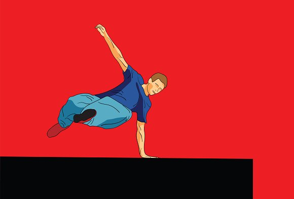 Parkour The Man Is Jumping