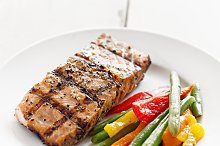 tasty grilled salmon