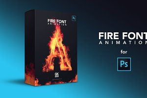 Fire Font Animation for Photoshop