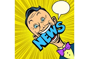 news pop art man journalist