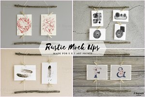 5x7 Artwork Rustic Mock Ups 1