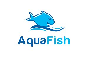 Aqua Fish Logo Template
