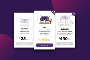 Pricing table for store