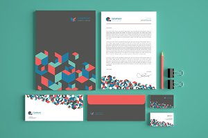 Set of Stationery Branding Kit