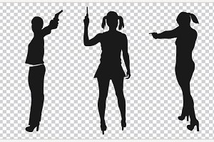 Shooting Girl Silhouette