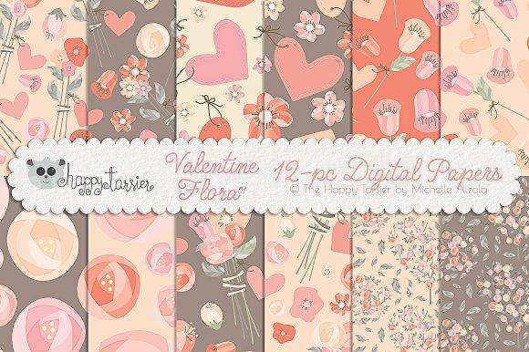 Valentine Flora 01 Patterns