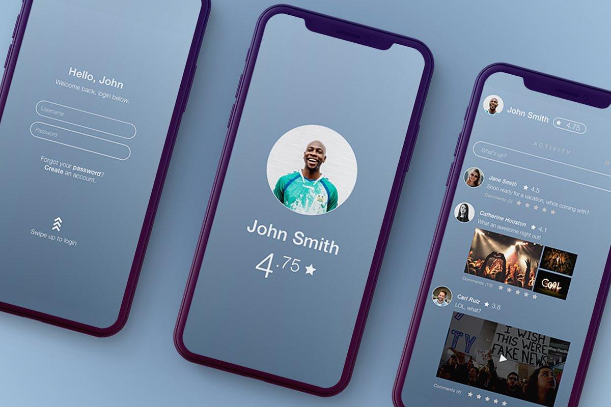 Nosedive Social Media Style Screens