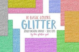 Glitter Digital Paper - Scrapbook