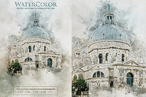 Water Color Photoshop Action v.3