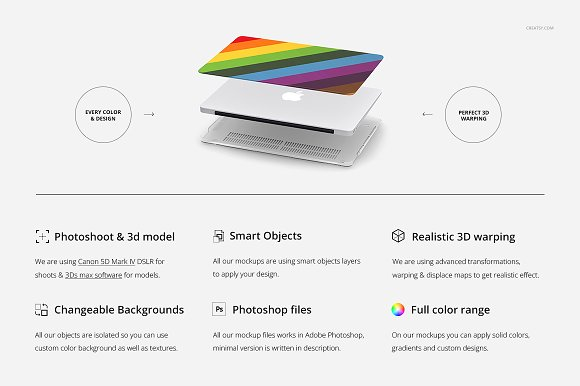 Macbook Clear Case Mockup Set in Product Mockups - product preview 1