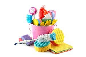 Set detergents in bucket