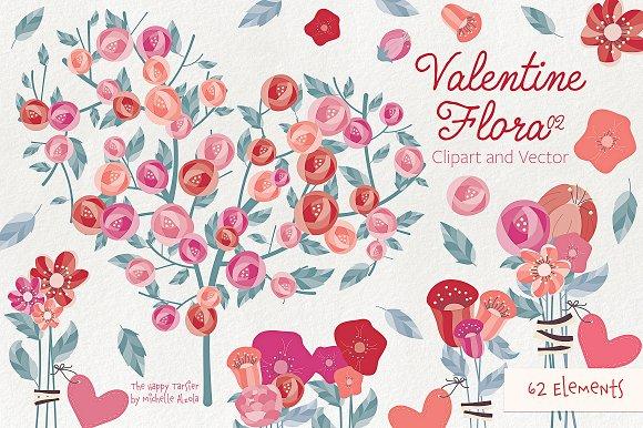 Valentine Flora 02 Clipart & Vectors