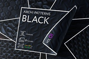 ARCHI PATTERNS BLACK