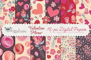 Valentine Flora 02 Patterns