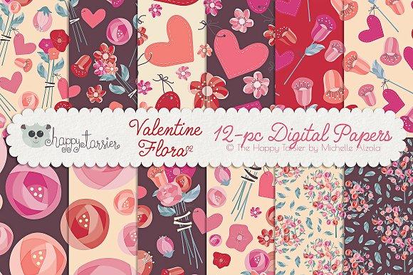 Valentine Flora 02 Patterns