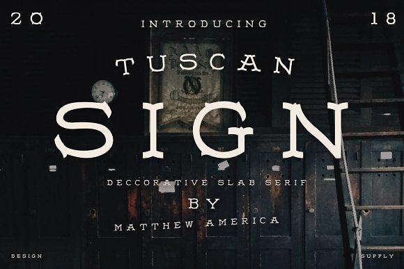 Tuscan Sign
