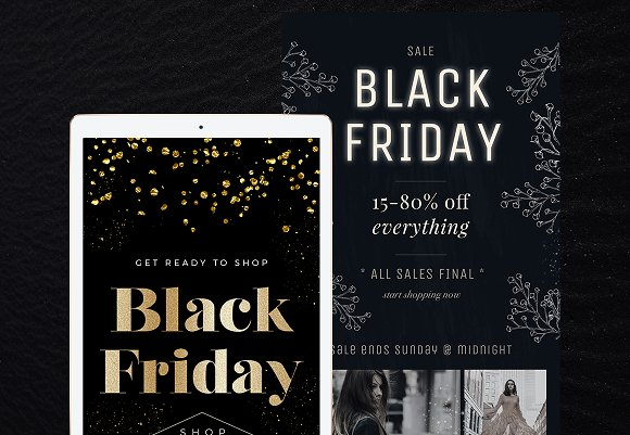 8 Black Friday Email Templates Email Templates Creative Market