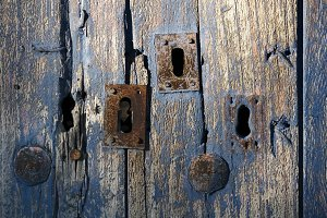 old door with locks , background