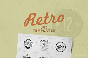 Retro Logo Templates V.12