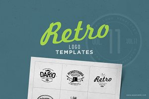 Retro Logo Templates V.11