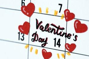 Valentine's day calendar reminder