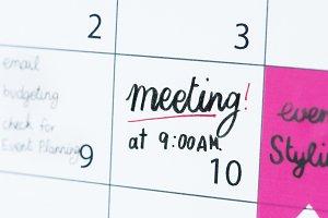 Meeting calendar reminder