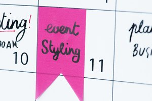 Styling event calendar reminder