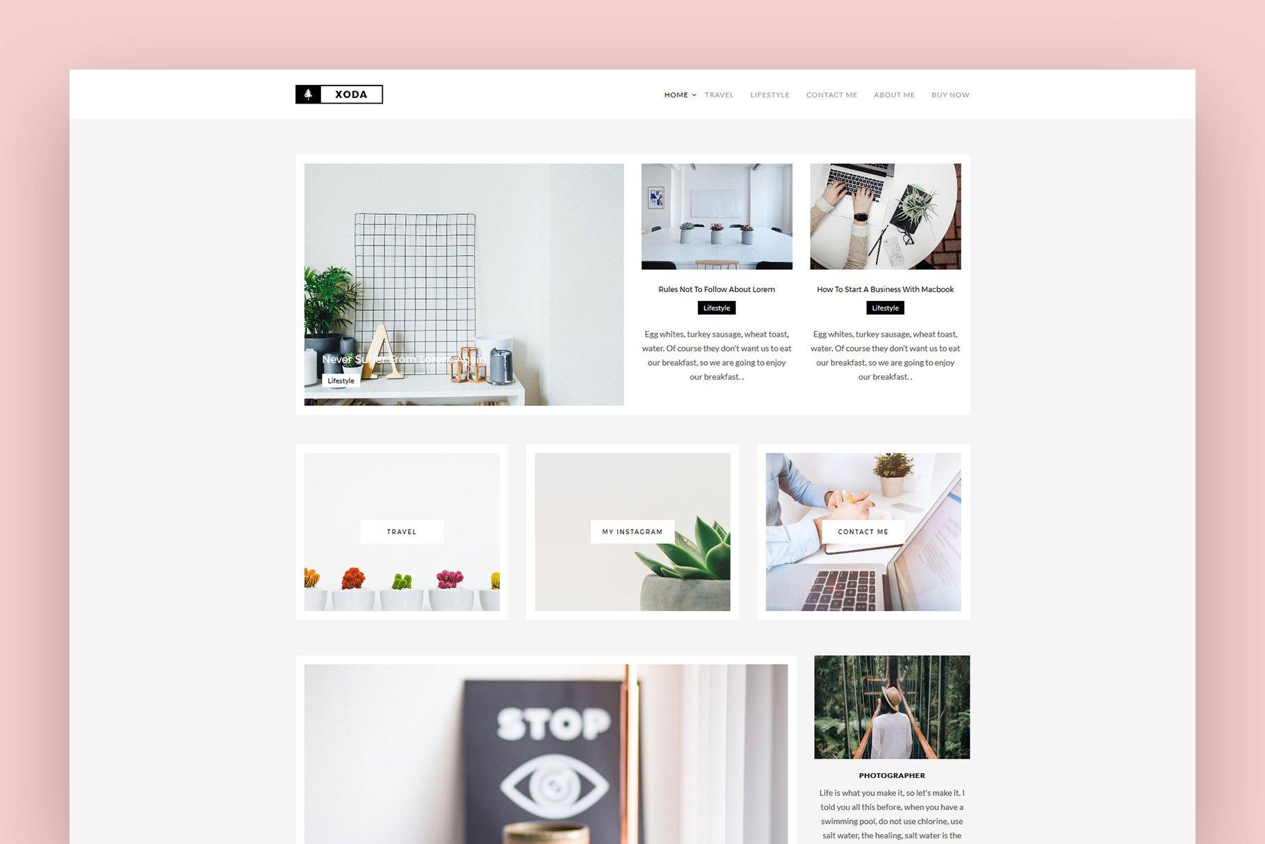 Analogue - Blog/Shop Theme ~ WordPress Blog Themes ~ Creative Market